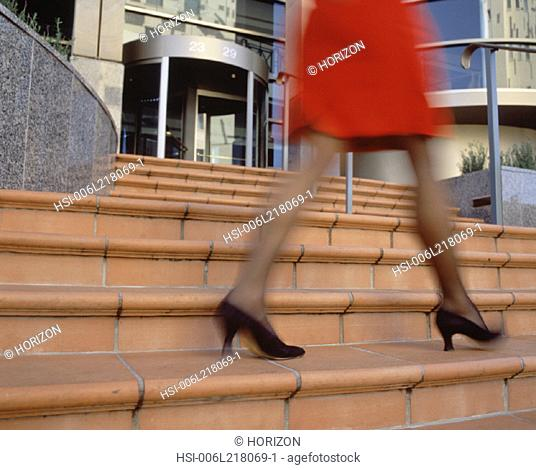 Business & Profession, Executive, City, Women, Legs close-up, Walking