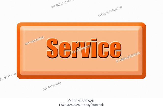 Button of service isolated on white background