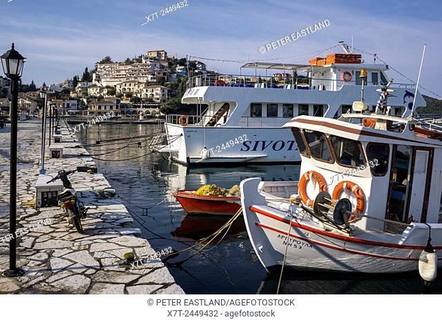 The harbour at Syvota on the coast of Epirus in northern Greece