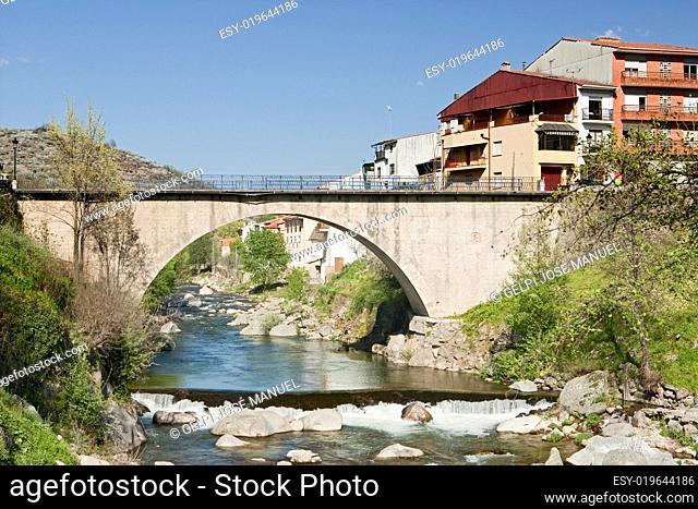 Bbridge with waterfall