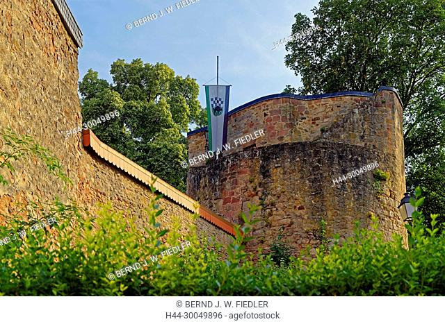 Prison tower, 11th century, town wall, in 1366 - in 1388, Kirchheimbolanden Germany