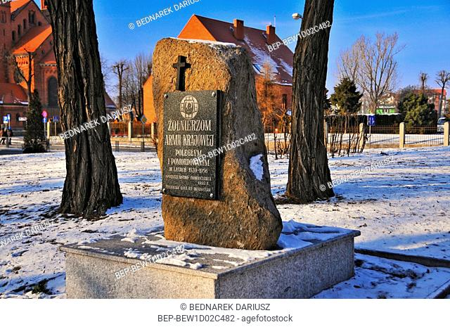 Monument in memory of AK Soldiers. Inowroclaw, Kuyavian-Pomeranian Voivodeship, Poland