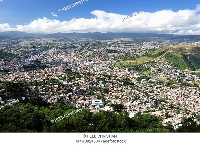 View, Tegucigalpa, capital, City, Central America, Honduras