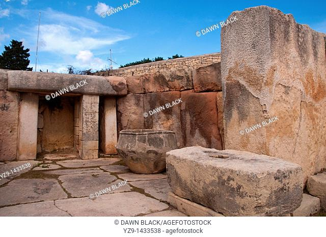 Apse 10 of the neolithic Tarxien Temple complex, Malta