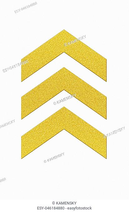 Chevrons in gold glitter