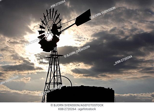 Windpump on a farm in country Victoria, Australia