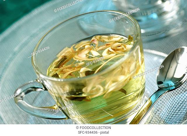 A cup of lemon grass tea