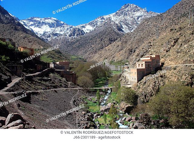Aremd in the valley of imlil. Atlas Mountains. Morocco