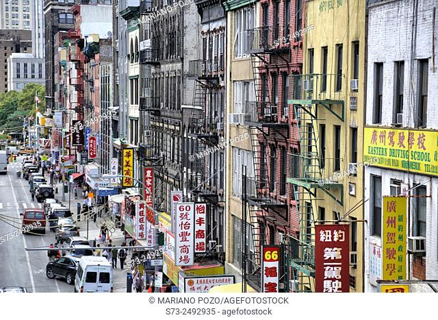 China Town (Lower Manhattan). New York City. USA