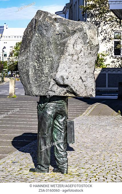 "The Monument to the Unknown Bureaucrat (1993) â. "" Magnús Tómasson, Northbank of Tjörnin, Reykjavik, Iceland"