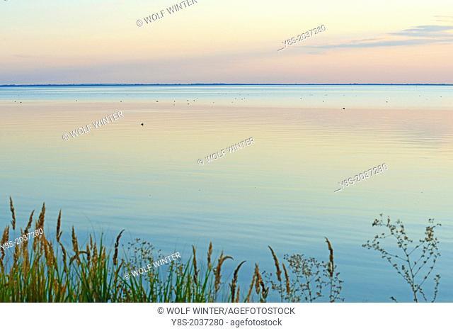Sunset at Kamminke, Usedom Island, Germany