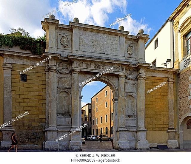 Europe, Italy, Veneto Veneto, Padua, Padova, Piazza Duomo, Arco Vallaresso, architecture, building, palaces, place of interest, tourism, traditionally, people