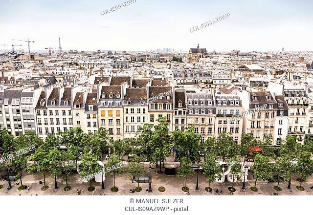 View from Centre Georges Pompidou, Paris, France