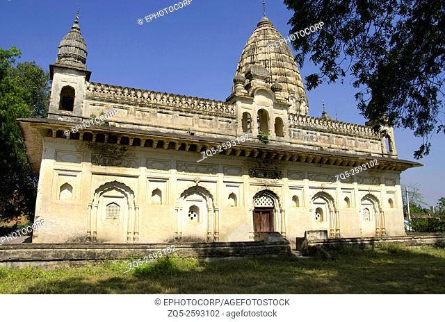 Exterior view of Dhanushdhari Temple. Alipura. Chhattarpur. Madhya Pradesh. India
