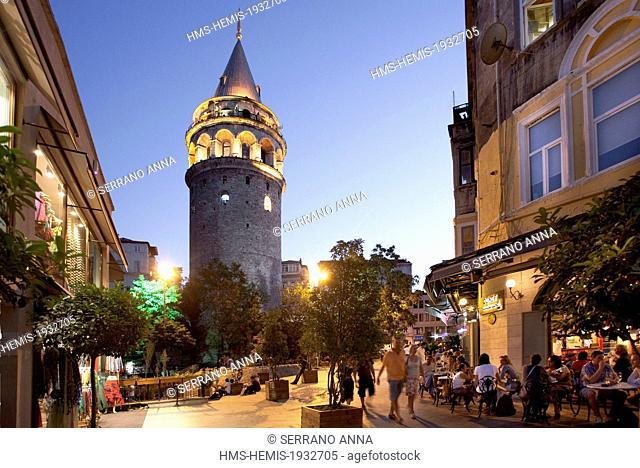 Turkey, Istanbul, Beyoglu, Tunel District, Galata Tower