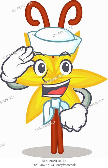 Sailor vanilla character cartoon style vector illustration