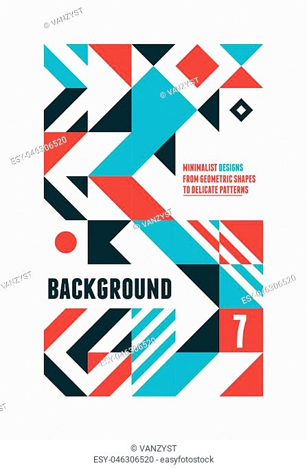 Abstract minimal Design background for Poster with geometric shapes in simple editable blocks