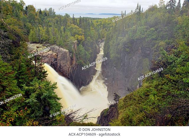 Aquasabon Falls and gorge, Terrace Bay, Ontario, Canada