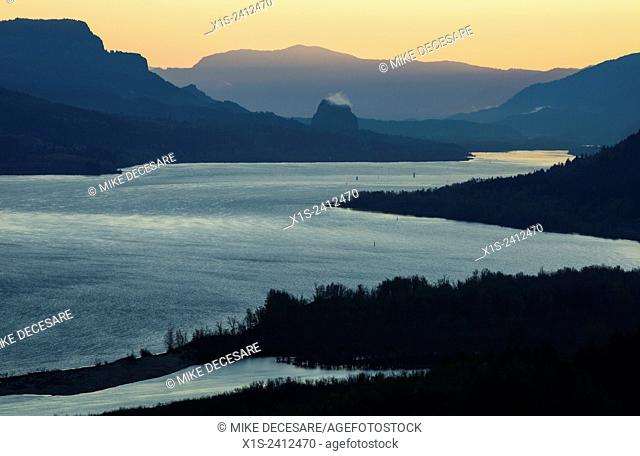 The Columbia River Gorge is a national recreation area and the river separates the states of Oregon and Washington