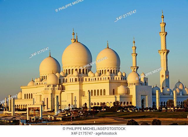 United Arab Emirates, Abu Dhabi, Sheikh Zayed Grand Mosque