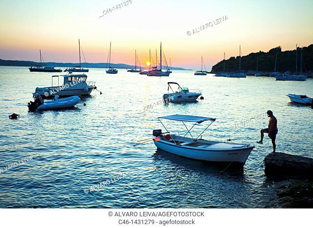 Hvar town, Island of Hvar, Dalmatian coast, Dalmatia, Croatia