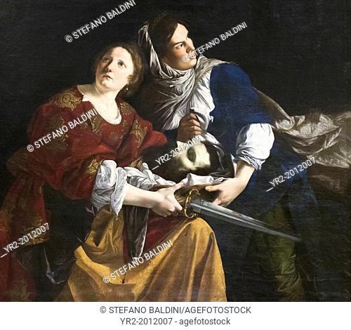 Judith with Olopherne's head, 1611-12, Gentileschi Orazio, 1562-1647, vatican museums, Rome, Italy
