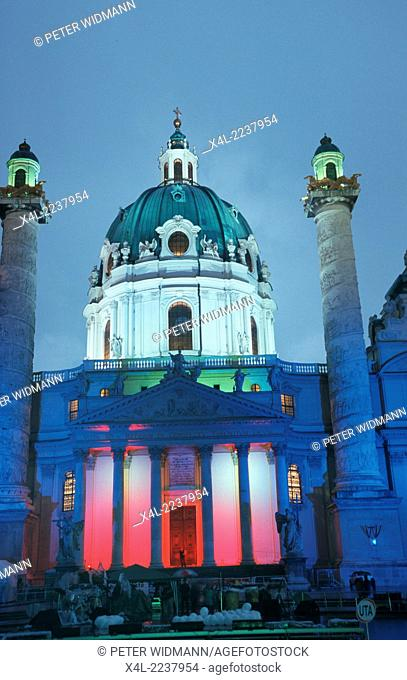church Karlskirche, Austria, Vienna, 4. district, Karl s church