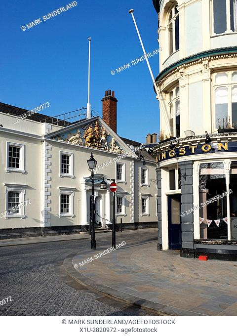 Trinity House and The Kingston Pub in the Old Town Hull Yorkshire England