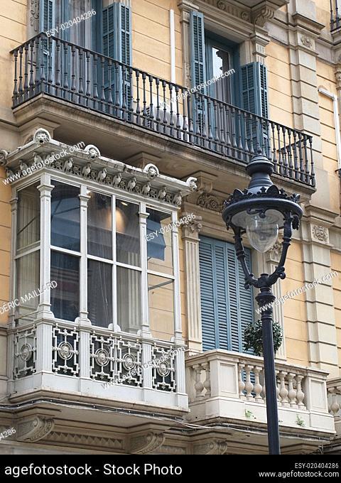 Enclosed balcony, Barcelona center, Spain
