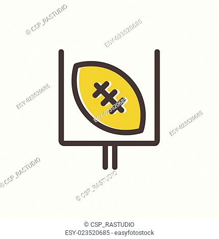 Football poster thin line icon
