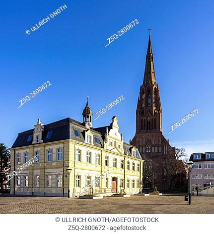 Hanseatic City of Demmin, town hall and church of St. Bartholomew