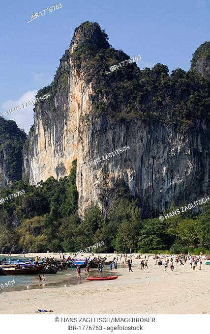 Beach of Railay, Ao Nang, Krabi Province, Thailand, Asia
