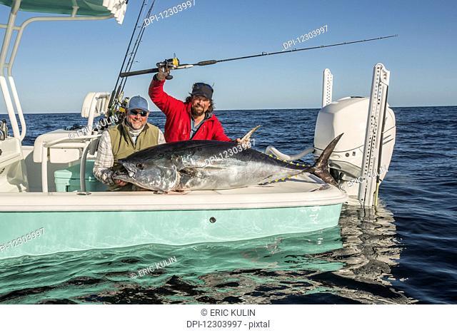 Fishing for tuna off the coast of Cape Cod; Massachusetts, United States of America