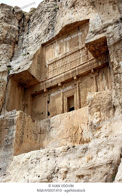 Tombs of Akhemenian kings 5 century BC, Naqsh-e Rustam, Fars province, Iran