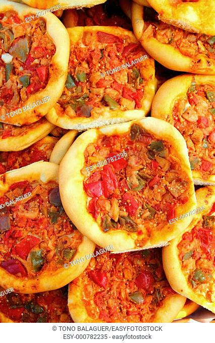 Coca de Dacsa mediterranean pizza from Spain Alicante