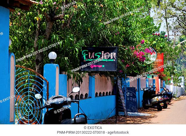 Fusion restaurant, Vagator, Bardez, North Goa, Goa, India