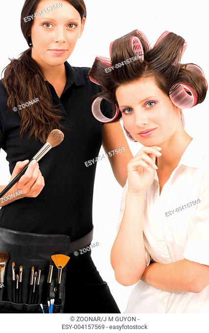 Make-up artist woman fashion portrait model