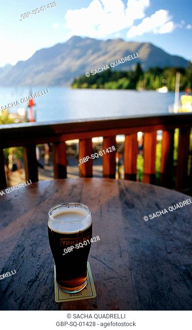Lake Wakatipu, Saw Remarkables, South Island, Queenstown, New Zealand