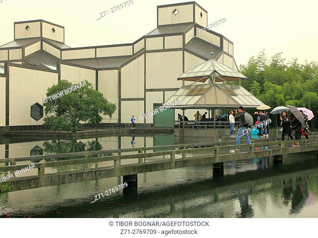 China, Jiangsu, Suzhou, Suzhou Museum, garden, pool, I. M. Pei architect,