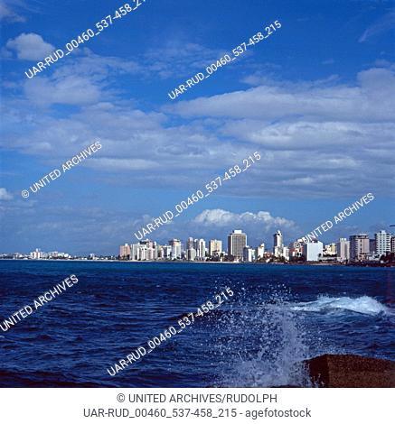 Eine Reise nach Puerto Rico, Große Antillen, Karibik 1980er Jahre. A trip to Puerto Rico, Greater Antilles, Caribbean 1980s