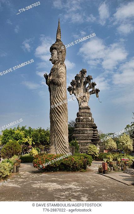 The bizarre religious art sculpture garden Sala Kaew Ku in Nong Khai, Thailand