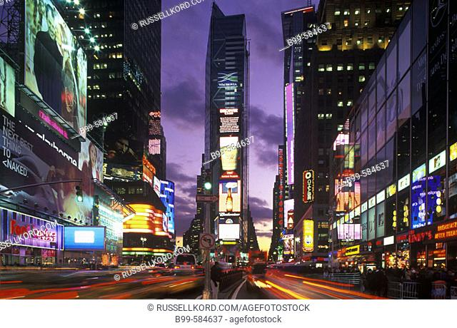 Street Scene, Times Square, Mid-town, Manhattan, New York, Usa
