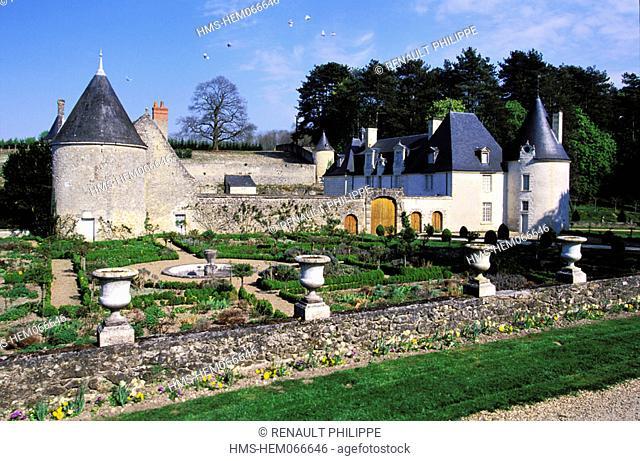 France, Indre-et-Loire (37), Azay le Rideau, castle and Chatonniere gardens