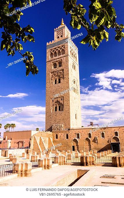Koutoubia minaret, Marrakesh, Morocco