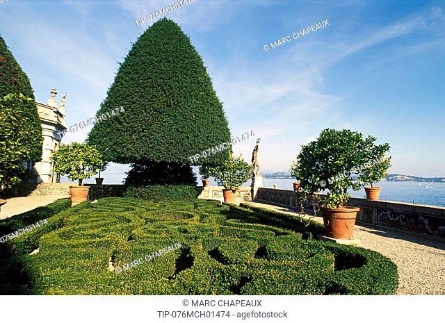 Italy, Piedmont, Lake Maggiore, Stresa, Borromeo's Islands, Isola Bella, Borromeo's Palace