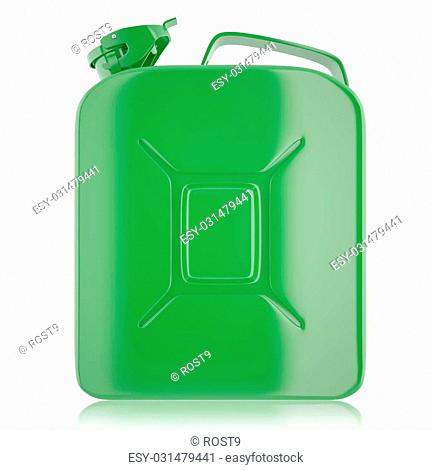 Canister, fuel jerrycan. Canister for gasoline, diesel gas on isolated on white background. High resolution 3d image