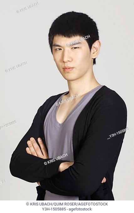 Studio shot of Korean man