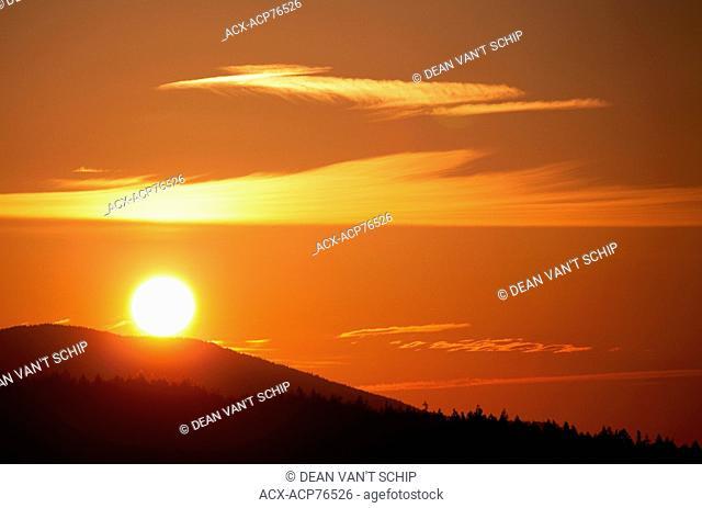 Roberts Creek Sunrise, Winter, Sunshine Coast, B.C