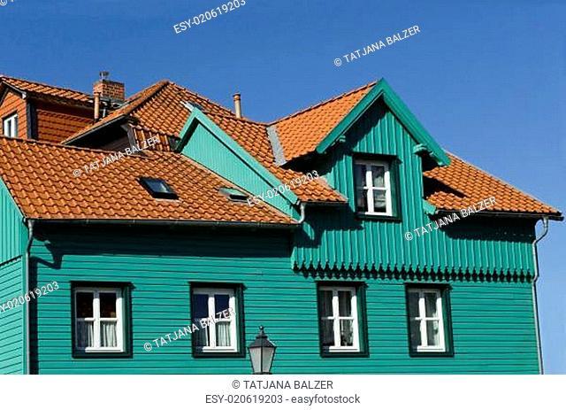 Buntes Haus im Harz (Wernigerode, Deutschland)