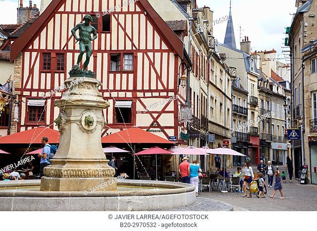 Statue of Bareuzai, Place Francois Rude, Dijon, Côte d'Or, Burgundy Region, Bourgogne, France, Europe
